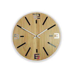 Mazur Nástěnné hodiny Sheen Wood hnědo-černé