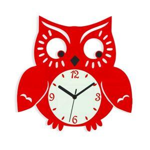 Mazur Nástěnné hodiny Owl červené