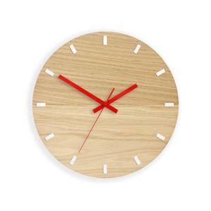 Mazur Nástěnné hodiny Solo Wood hnědo-červené